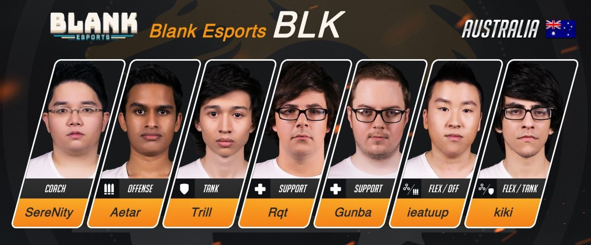 GGPC Blank eSports Team Overwatch Taipei