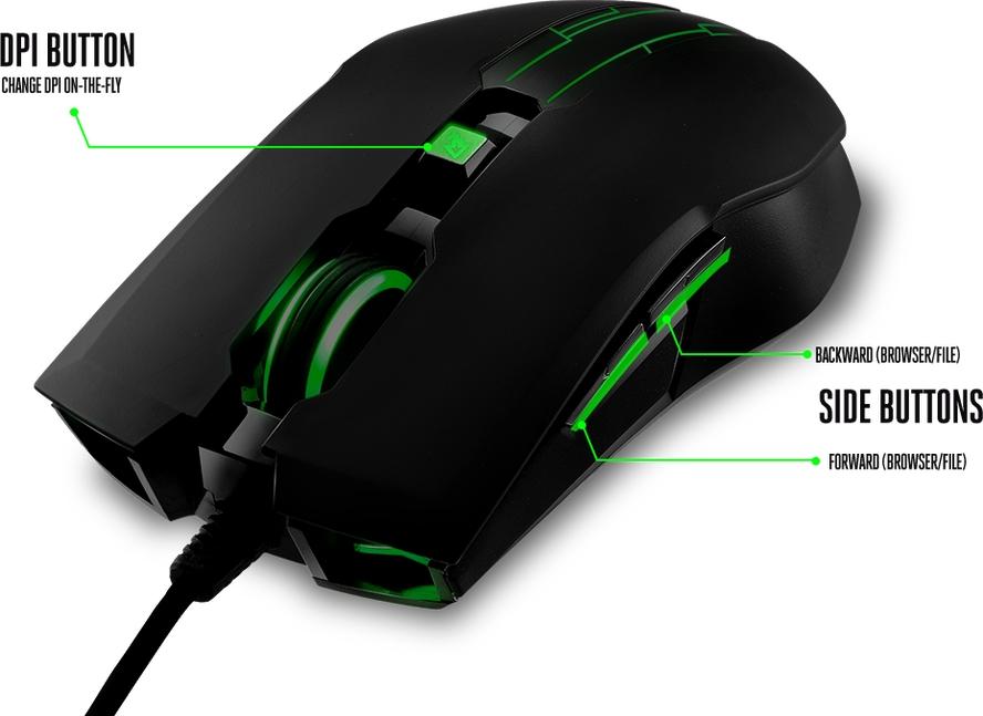 GGPC CM Storm Devastator 2 Green Mouse