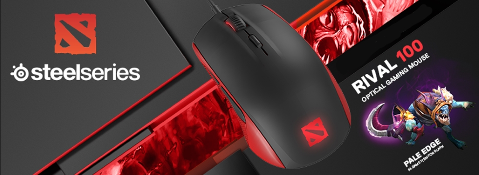 GGPC DOTA 2 SteelSeries Rival 100 gaming Mouse