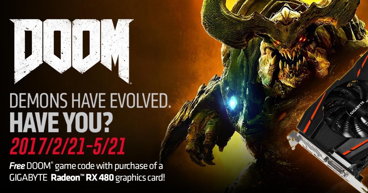 GGPC Gigabyte AMD Doom RX 480 bonus