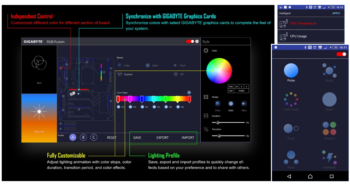 GGPC Gigbyate Aorus RGB Fusion App