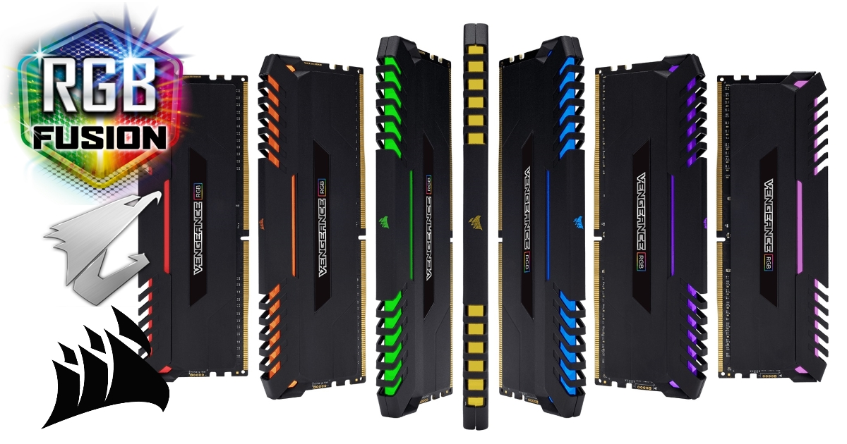 GGPC RGB RAM Corsair Vengence and Gigabyte Aorus Fusion
