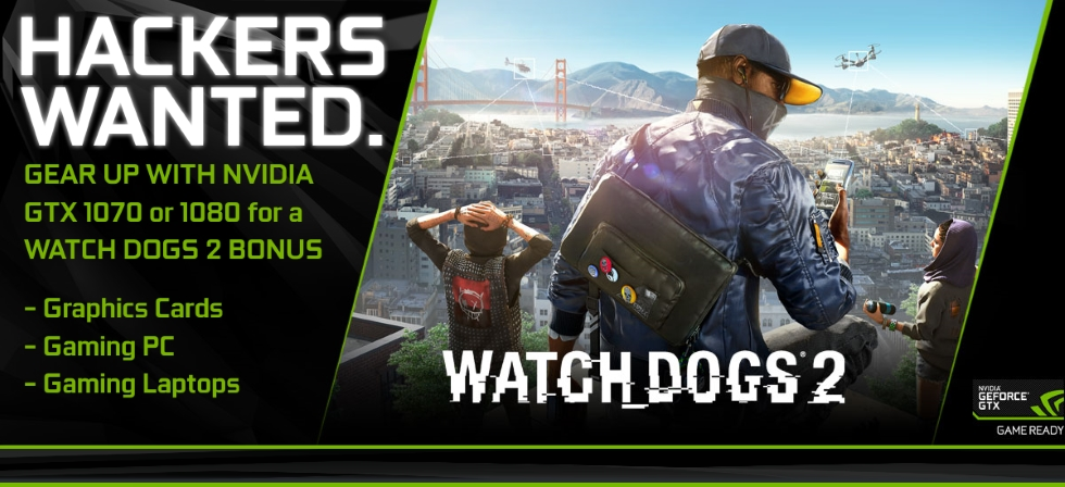 GGPC Watch Dogs 2 Nvidia GTX 1070 1080 Gaming PC and Laptop BONUS