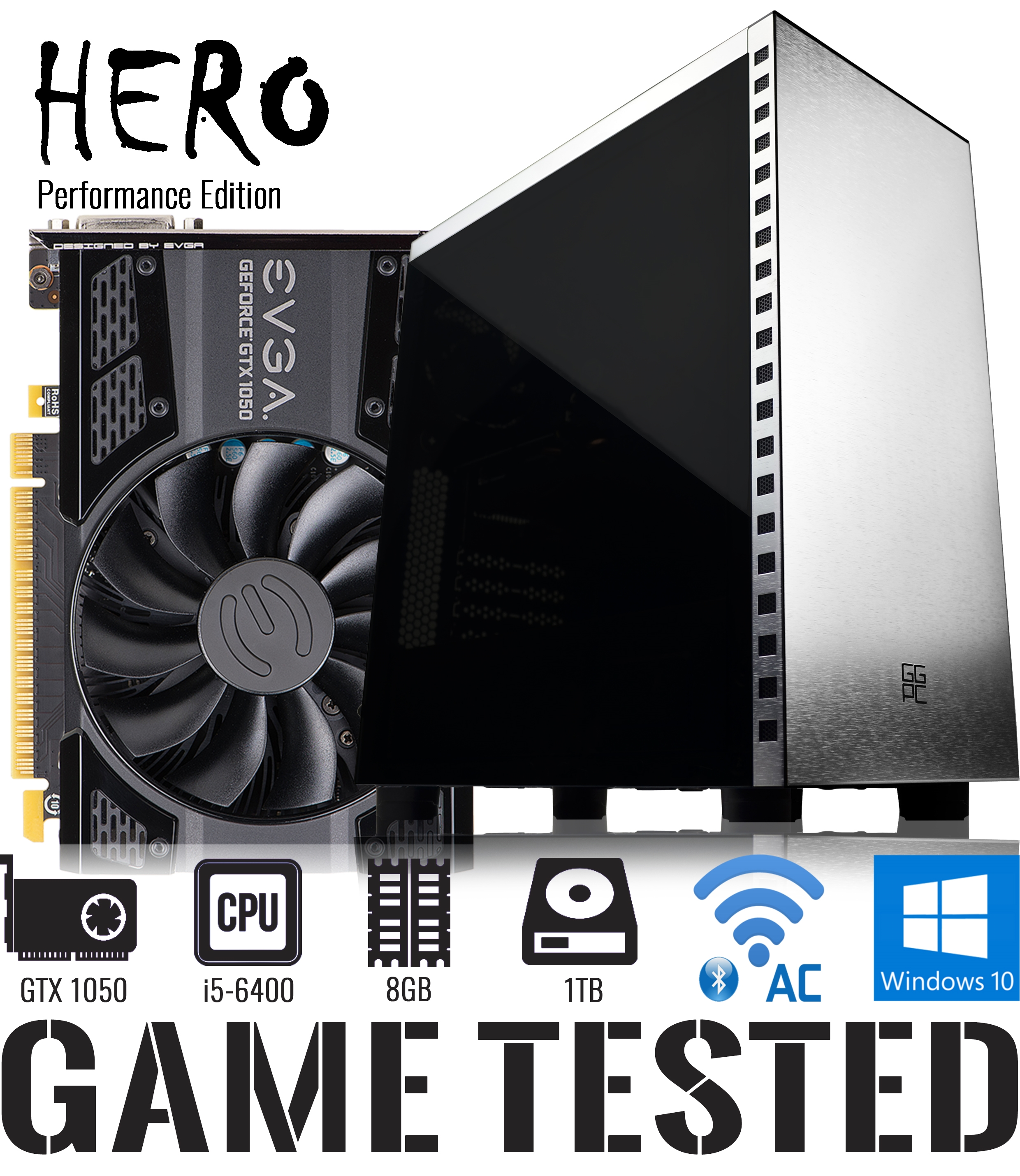 Good Gaming PC NZ GGPC Hero GTX 1050