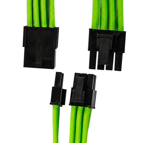 GGPC Green Braided Cables for Graphics Cards
