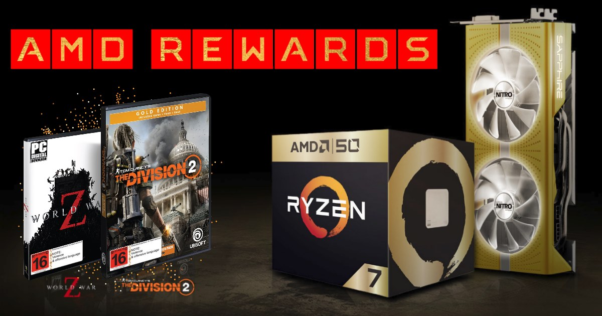 Good Gaming – AMD Rewards & 50th Anniversary GOLD Special Editions