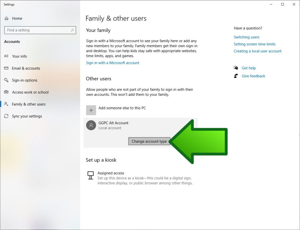 How to create a second Admin account in Windows 10   GGPC
