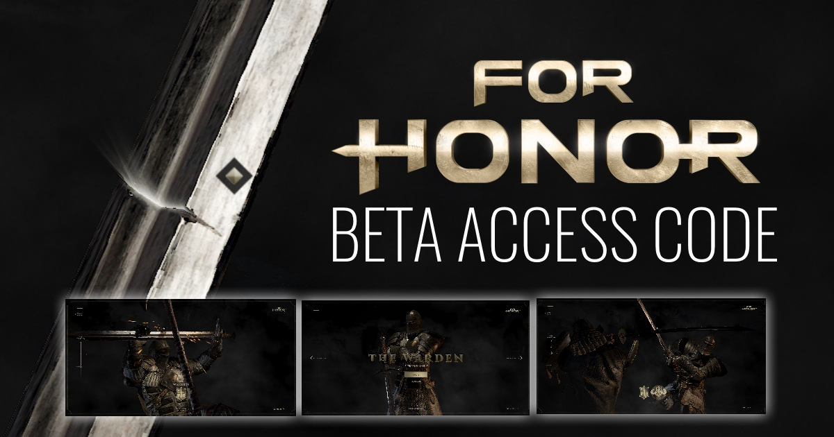 GGPC For Honor Beta Access Code via SCAR