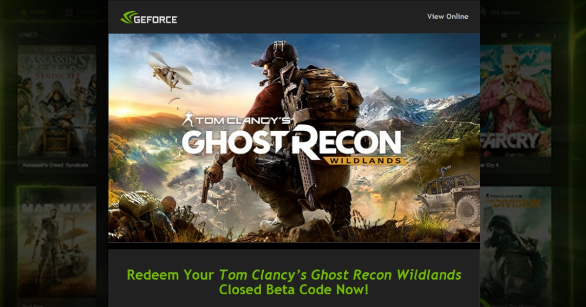 GGPC Ghost Recon Wildlands Closed BETA