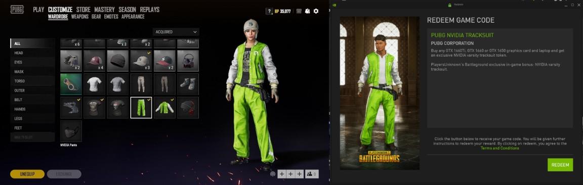 Nvidia GTX PUBG Tracksuit Bonus | GGPC