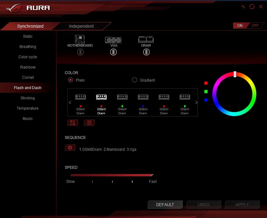 GGPC RGB Trident Z Aura Ram Software