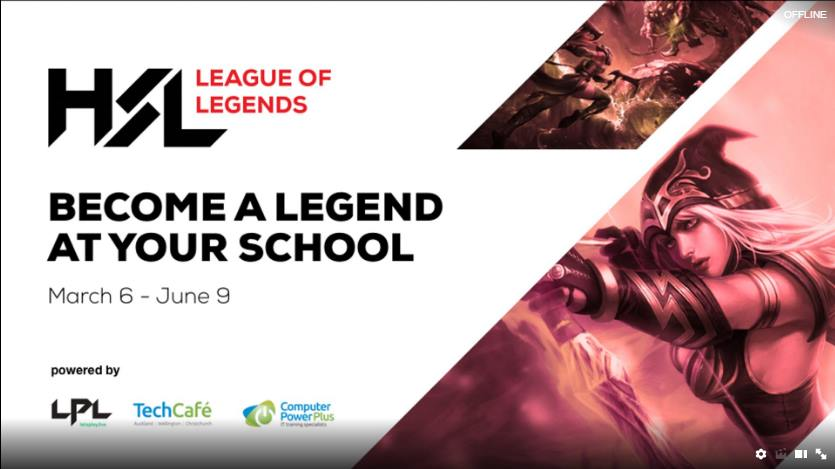HSL eSports NZ High School League of Legends Competition by Lets Play Live