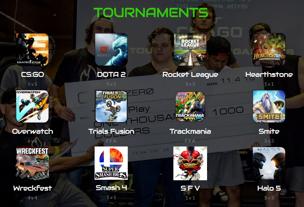 eSports NZ Tournaments
